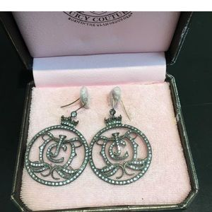 Authentic Juicy Couture Pave Logo Earrings